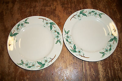 """Mayer CHINA hotel train restaurant ware Plate lot Dogwood ? Floral Cake Bread 7"""""""