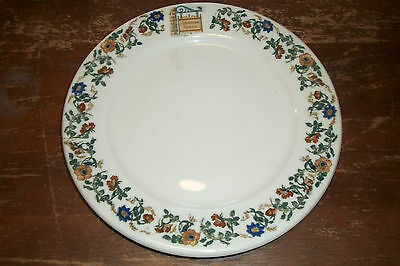 """Scammell's Trenton China hotel restaurant ware Plate American Hotels Adv 8 1/4"""""""