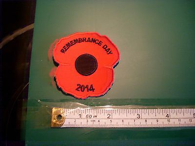 Remembrance Day 2014 Poppy badge / patch girl guiding