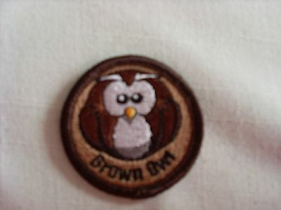 Brown Owl Badge / Patch suitable for girl guiding