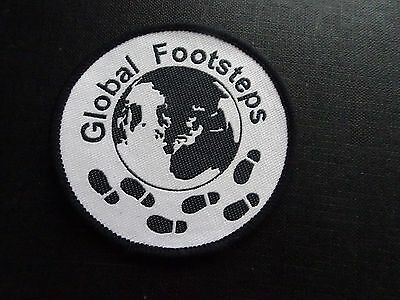 Global Footsteps badge , Suitable for Girl Guiding sew on badge / patch