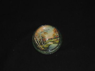 Vintage Mansfield Ohio Glass Paperweight (e513)