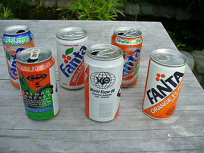 6 Fanta Cans New Zealand ( tear top both ends)