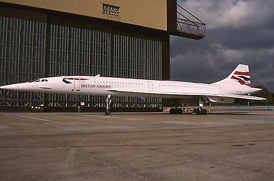 Original 35mm Colour Slide of British Airways Concorde G BOAD