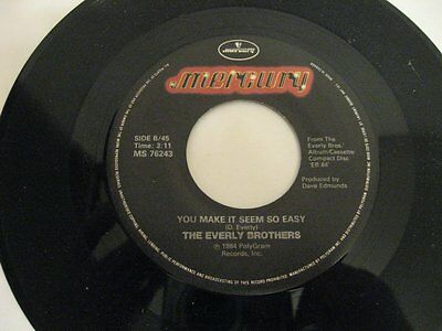 """The Everly Brothers born yesterday - 45 Record Vinyl Album 7"""""""