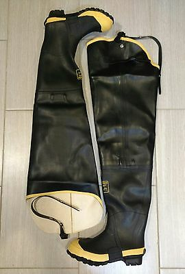 """LaCrosse 31"""" Insulated Storm Hip Boots Mens 8 Steel Toe Brand New"""