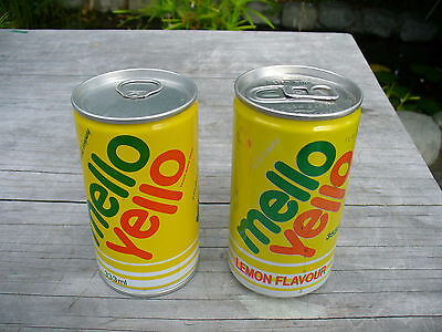Mello Yello Caned By Coca Cola Steel Can ( has tear top both ends)