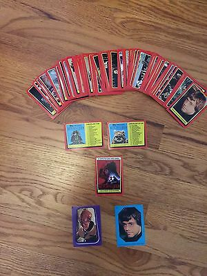 Near Complete(125) Topps Return of the Jedi Trading Cards: Vintage Collectiblles