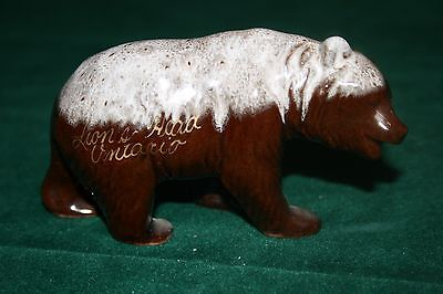 Brown Bear Glazed Ceramic Figurine