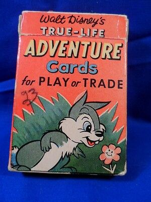 Vintage Disney Russell True-Life Adventure Cards Play-Trade in Box RARE!