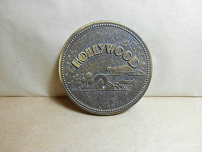 Century Canada Solid Brass Bronze? Hollywood Souvenir Paperweight