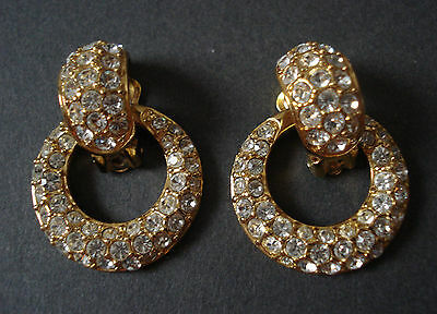 NOLAN MILLER Glamour Collection Crystal Clip on Earrings
