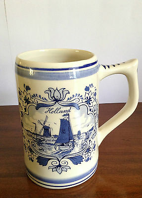 Holland Delft Blue Handpainted Mug, Cup, Stein