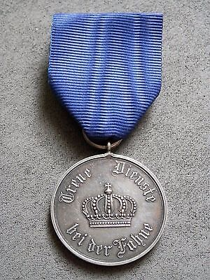 WW1 Germany, Original Prussian Long Service Medal for IX Years, real Silver