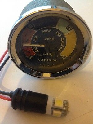 Smiths Vacuum Vac Gauge Vc 1302/03A Mini Cooper Bmc Classic Car Ford Kit Car 305