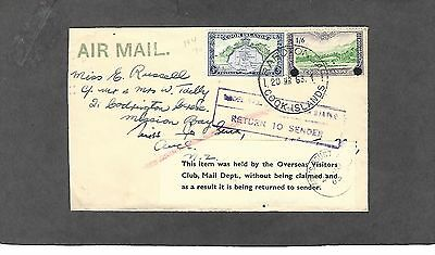 1963 Rarotonga,cook Islands Mar 20-1963 Cover-Return To Sender-Held For 6 Months