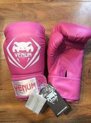 New Venum Contender Pink Boxing Gloves 10oz FREE SHIPPING