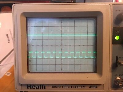 Heathkit 4554 Two Channel 40 MHz Oscilloscope With Manual