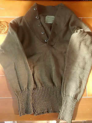 Original US Army wool sweater small/medium vintage button-up made in USA