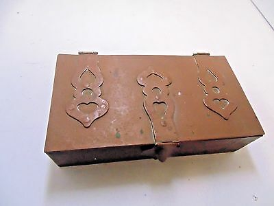 Hand Hammered Arts And Crafts Copper Box