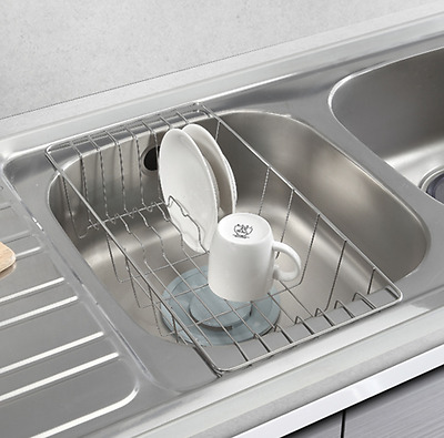 Sink Drainer Dish Drying Rack Half Sink Tray Stainless Steel Basket [Stopia]
