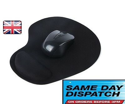 Black Comfor Softt Wrist  Rest Support Mat Mouse Mice Pad Computer PC Laptop