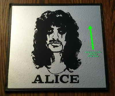 Vintage 1980's Alice Cooper Midway Carnival Silk-Screened Mirror Prize