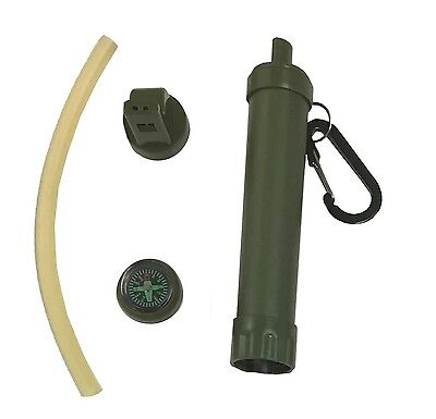 Survivor PORTABLE Personal WATER FILTER Water Purifier Survival Gear Australia