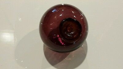 Amethyst Purple Hand Blown Glass Fishing Float