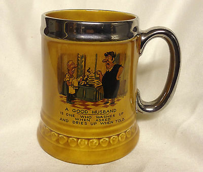 Lord Nelson Pottery Mug 2-70, Made in England, A Good Husband Stein