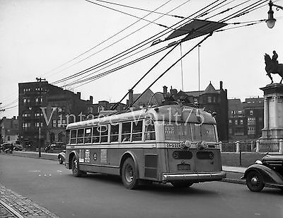 Original Negative Trolley Bus Psnj Psct 9419 Public Service New Jersey 1937