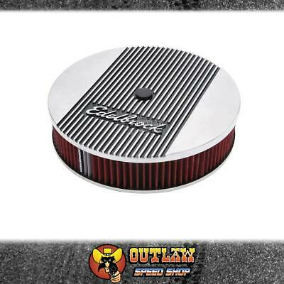 "Edelbrock Air Cleaner 14"" Elite Ii Series Round Washable 5.1/8"" Holley - Ed4266"