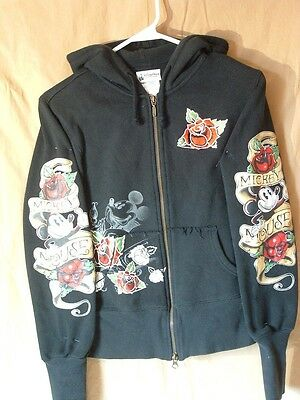 Disney, Mickey Mouse, Hoodie, Adult S, Embellished, Hearts & Roses