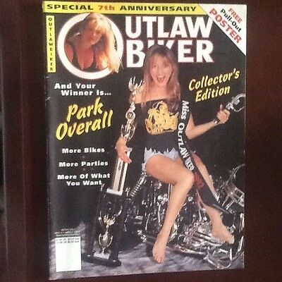"""1992 Outlaw Biker """" 7Th Anniversary Collectors Edition """" With Pull Out Poster"""