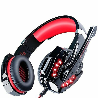 ECOOPRO Gaming Headset PS4 Headset Gaming Headphones with Microphone, LED for