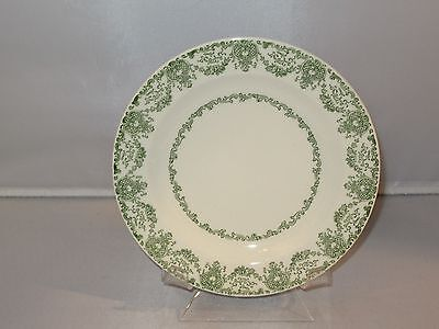 Vintage Royal China D 52 GREEN AND WHITE FLORAL Salad Sandwich Plate
