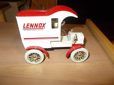 Ertl Diecast Bank 1905 Delivery Car Truck Lennox Air Condition& Heating! w/key