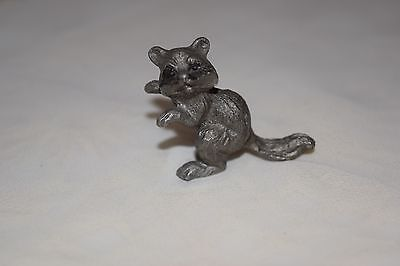 Pewter Raccoon 1 1/2""