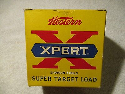 Vintage Empty shot shell box  Western X Pert