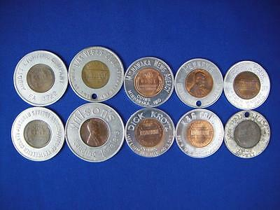 Encased Pennies Good Luck Tokens Lot of 10 (lot #7)