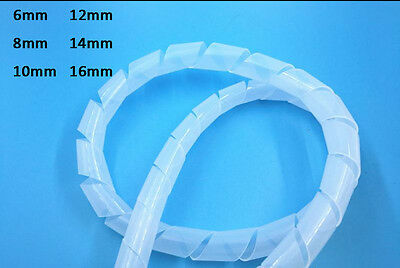 Winding Wire Flexible Plastic Spiral Tube Car Audio Installation Protection