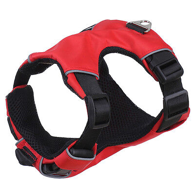 Soft Padded Red Reflective Mesh No Pull Dog Vest Harness Safety for Large Dog