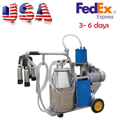 Electric Milking Machine Milker just to farm Cow Bucket 110V 25L Stainless steel
