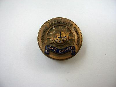 Rare Vintage Collectible Pin: Phoenix Indemnity Co. 1 Year Safe Driver Award
