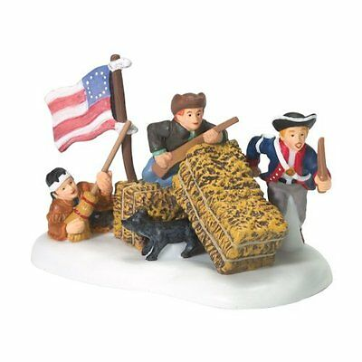 Dept 56 Accessories Little Patriots At Play New England USA Flag Dog