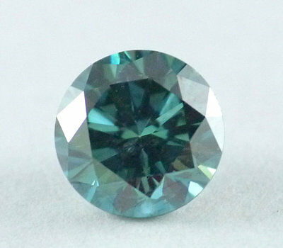 Tiny 0.12TCW 3.3MM SI1 Green Blue color Round Brilliant Loose Natural Diamond