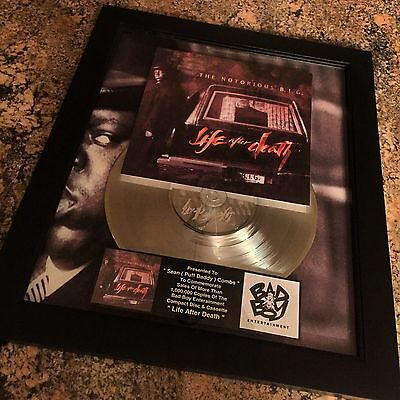 Notorious BIG Life After Death  Platinum Record Album Disc Music Award  RIAA
