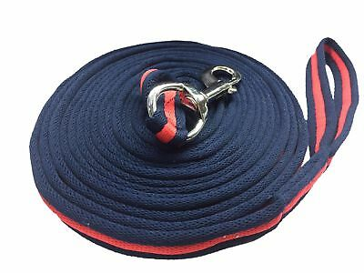 Lunging Reins Horse Training Aid Lung Line Lunging Rope Meter Navy Red Navy