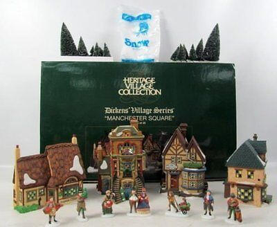 Department 56 Manchester Square Set of 25 - 56.58301 Dickens Village Collection