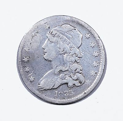 1835 Capped Bust Quarter Fine Condition 25c Silver